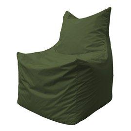 Бескаркасное кресло мешок Фокс Ф2.2-04 (тёмно-oливковый)