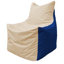 Кресло-мешок Фокс Ф 21-133 (слоновая кость - тёмно-синий)