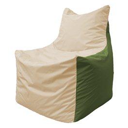 Кресло-мешок Фокс Ф 21-135 (слоновая кость - тёмно-оливковый)
