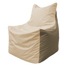 Кресло-мешок Фокс Ф 21-136 (слоновая кость - тёмно-бежевый)