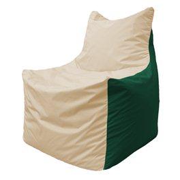 Кресло-мешок Фокс Ф 21-137 (слоновая кость - тёмно-зелёный)