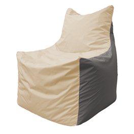 Кресло-мешок Фокс Ф 21-140 (слоновая кость - серый)