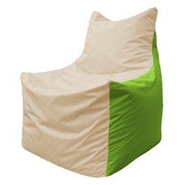 Кресло-мешок Фокс Ф 21-141 (слоновая кость - салатовый)