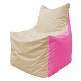 Кресло-мешок Фокс Ф 21-142 (слоновая кость - розовый)