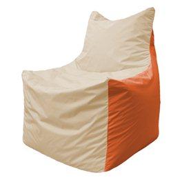 Кресло-мешок Фокс Ф 21-143 (слоновая кость - оранжевый)