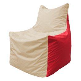 Кресло-мешок Фокс Ф 21-145 (слоновая кость - красный)