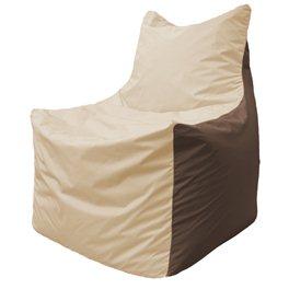 Кресло-мешок Фокс Ф 21-146 (слоновая кость - коричневый)