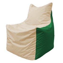 Кресло-мешок Фокс Ф 21-147 (слоновая кость - зелёный)
