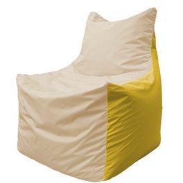 Кресло-мешок Фокс Ф 21-148 (слоновая кость - жёлтый)