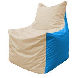 Кресло-мешок Фокс Ф 21-149 (слоновая кость - голубой)