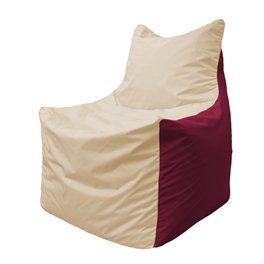 Кресло-мешок Фокс Ф 21-150 (слоновая кость - бордовый)