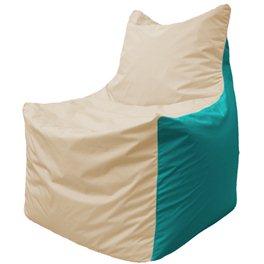 Кресло-мешок Фокс Ф 21-151 (слоновая кость - бирюза)