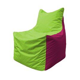 Кресло-мешок Фокс Ф 21-154 (салатовый - малиновый)