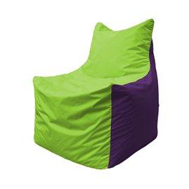 Кресло-мешок Фокс Ф 21-155 (салатовый - фиолетовый)