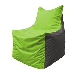 Кресло-мешок Фокс Ф 21-156 (салатовый - серый)