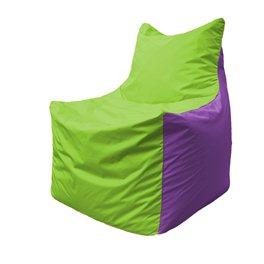 Кресло-мешок Фокс Ф 21-158 (салатовый - фиолетовый)