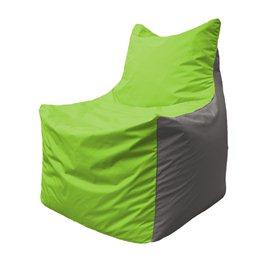 Кресло-мешок Фокс Ф 21-160 (салатовый - светло-серый)