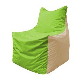 Кресло-мешок Фокс Ф 21-162 (салатовый - слоновая кость)