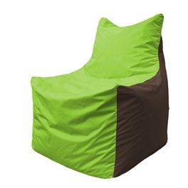 Кресло-мешок Фокс Ф 21-165 (салатовый - коричневый)