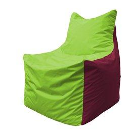 Кресло-мешок Фокс Ф 21-169 (салатовый - бордовый)