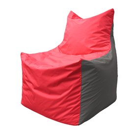 Кресло-мешок Фокс Ф 21-170 (красно-серый)