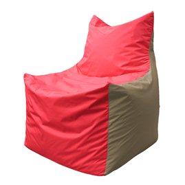Кресло-мешок Фокс Ф 21-171 (красно-бежевый)