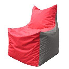 Кресло-мешок Фокс Ф 21-173 (красный - светло-серый)