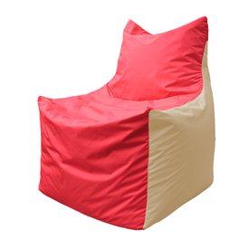 Кресло-мешок Фокс Ф 21-174 (красный - слоновая кость)
