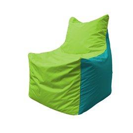 Кресло-мешок Фокс Ф 21-182 (салатовый - бирюзовый)