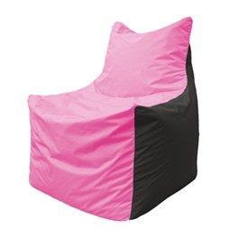 Кресло-мешок Фокс Ф 21-188 (розово-чёрный)
