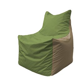 Кресло-мешок Фокс Ф 21-190 (тёмно-оливковый - тёмно-бежевый)