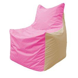 Кресло-мешок Фокс Ф 21-196 (розовый - слоновая кость)