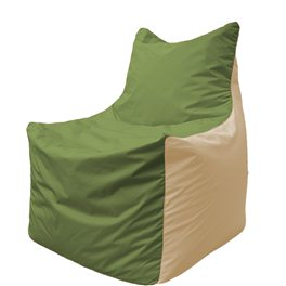Кресло-мешок Фокс Ф 21-225 (оливковый - слоновая кость)