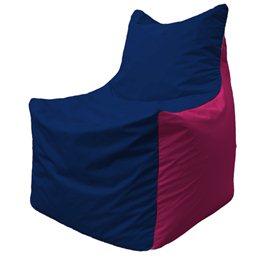 Кресло-мешок Фокс Ф 21-37 (тёмно-синий - малиновый)
