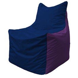 Кресло-мешок Фокс Ф 21-38 (тёмно-синий - фиолетовый)