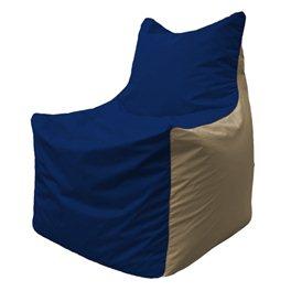 Кресло-мешок Фокс Ф 21-39 (тёмно-синий - тёмно-бежевый)
