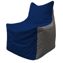 Кресло-мешок Фокс Ф 21-41 (тёмно-синий - светло-серый)