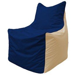 Кресло-мешок Фокс Ф 21-42 (тёмно-синий - светло-бежевый)