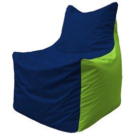 Кресло-мешок Фокс Ф 21-43 (тёмно-синий - салатовый)