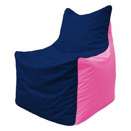 Кресло-мешок Фокс Ф 21-44 (тёмно-синий - розовый)