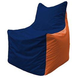 Кресло-мешок Фокс Ф 21-45 (тёмно-синий - оранжевый)