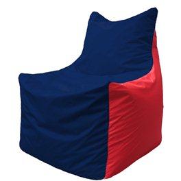 Кресло-мешок Фокс Ф 21-46 (тёмно-синий - красный)