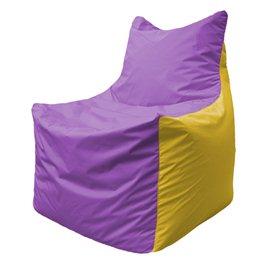 Кресло-мешок Фокс Ф 21-100 (сиреневый - жёлтый)