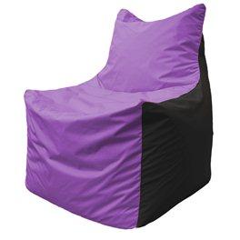 Кресло-мешок Фокс Ф 21-101 (сиреневый - чёрный)