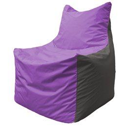 Кресло-мешок Фокс Ф 21-103 (сиреневый - тёмно-серый)