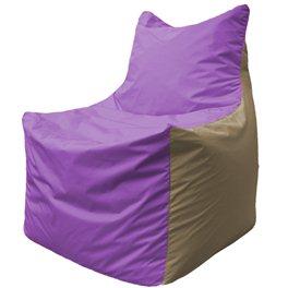 Кресло-мешок Фокс Ф 21-104 (сиреневый - тёмно-бежевый)