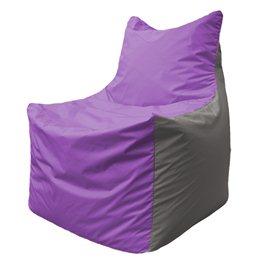 Кресло-мешок Фокс Ф 21-106 (сиреневый - светло-серый)