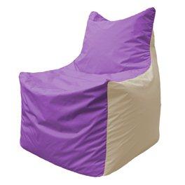 Кресло-мешок Фокс Ф 21-107 (сиреневый - светло-бежевый)