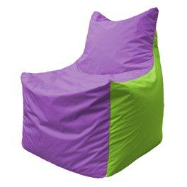 Кресло-мешок Фокс Ф 21-108 (сиреневый - салатовый)