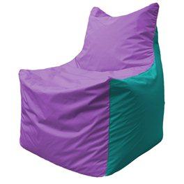 Кресло-мешок Фокс Ф 21-112 (сиреневый - бирюзовый)